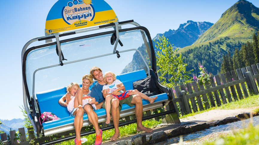 Families with children have plenty of fun with the Bergbahnen Kappl on their holiday